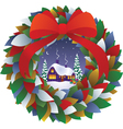 Fairy Christmas wreath vector image vector image