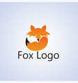 fox ideas design on background vector image vector image