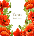 Framing of red poppies for your text vector image