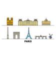 france paris flat landmarks vector image