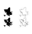 fresno city map vector image vector image