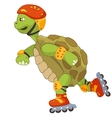 Funny Turtle Roller vector image