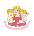 Happy mother s day card with cartoons vector image