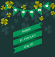 happy st patricks day greeting vector image vector image