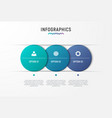infographic chart design with the vector image vector image