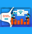 internet and wifi networks make it easy vector image vector image