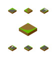 isometric road set of footer repairs down and vector image vector image