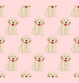 labrador golden retriever dog seamless on pink vector image vector image