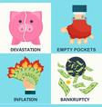 lack of money design concept vector image vector image