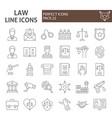 law thin line icon set justice symbols collection vector image