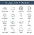 light icons vector image vector image