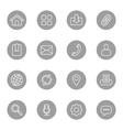 line web icon set on gray circle vector image vector image