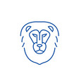 lion head line icon concept lion head flat vector image vector image