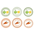 Logo squash and carrots design element package vector image vector image