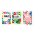malibu hawaii banner templates set tropical vector image vector image