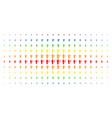 medic spectrum halftone pattern vector image vector image