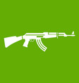 military rifle icon green vector image vector image