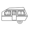modern camp trailer icon outline style vector image vector image