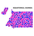 mosaic equatorial guinea map of round items vector image vector image