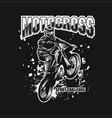 motocross sport challenge vector image vector image