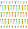 party candles seamless pattern vector image vector image