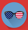 patriotic glasses with stars and strips vector image vector image