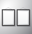 Picture Frames Black Vertical vector image vector image