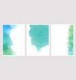 pink watercolor wash splash 5x7 invitation card vector image vector image