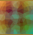 polygonal background in mint and caremal brown vector image vector image