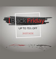 red splashes ink with frame black friday banner vector image