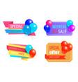 seasonal discount premium best sale promo labels vector image vector image