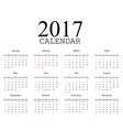 Simple calendar 2017 vector image