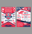 soccer cup posters stadium super match vector image