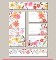 summer templates with contour flowers template vector image