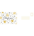 thank you postcard abstract background vector image vector image