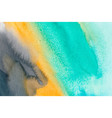 turquoise orange and blue watercolor vector image vector image