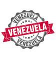 venezuela round ribbon seal vector image vector image