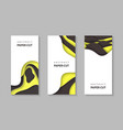 vertical flyers with yellow black color paper cut vector image vector image