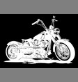 vintage chopper motorcycle vector image vector image