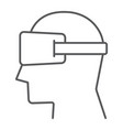 virtual reality glasses thin line icon electronic vector image vector image