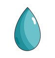 water drop symbol to environment care vector image vector image