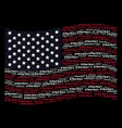 waving american flag stylization of strategy text vector image