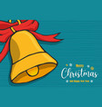 year bell ornament cartoon card vector image vector image