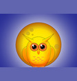 yellow owl against the full moon at night vector image vector image