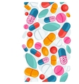 Medical seamless pattern with pills and capsules vector image