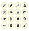 Set round icons of newborn baby vector image