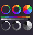 set of color gradients color circle vector image