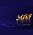 2021 golden bronze silver numbers happy new year vector image