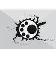 Abstract art circular logo with black ink splash vector image vector image