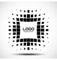 Abstract Halftone Logo Design Element vector image vector image